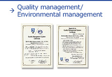 Quality management/Environmental management